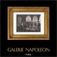 Generale Napoleone Bonarte Visita l'Ospedale per gli Appestati a Giaffa (1799) - Guerre Napoleoniche - Campagna d'Egitto