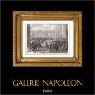 Louis-Philippe quitte le Palais-Royal pour se rendre à l'Hotel de Ville (1830) - Trois Glorieuses - Révolution de Juillet - Roi des Français (Horace Vernet)