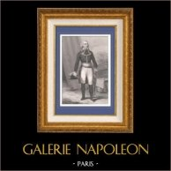 Portrait de Jean Charles Pichegru (1761-1804) - Général de la Révolution française   Gravure sur acier originale dessinée par Gaildrau, gravée par Pannier. 1845