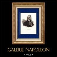 Portrait de Talleyrand (1754-1838) - Homme Politique et Diplomate Français  | Gravure sur acier originale dessinée par Fauchery. 1840