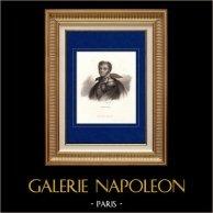 Portrait de Henri Gatien Bertrand (1773-1844) - Maréchal d'Empire et Général de Napoléon   Gravure sur acier originale dessinée par Fauchery. 1840