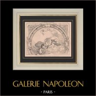 History of Paris - Le Café Riche - Café-chantant - Boulevard des Italiens - Belle époque - Late 19th century - Cabaret - Decoration | Original steel engraving drawn by Emile Rivoalen. 1890
