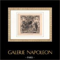 La colère d'Achille (Pierre-Paul Rubens) | Gravure à l'eau-forte originale d'après Pierre-Paul Rubens gravée par E. Ramus. 1873