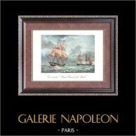 Age d'Or des Voiliers - Trois-Mats Saint Vincent de Paul  | Impression sur papier velin d'après François Roux. Anonyme. 1963
