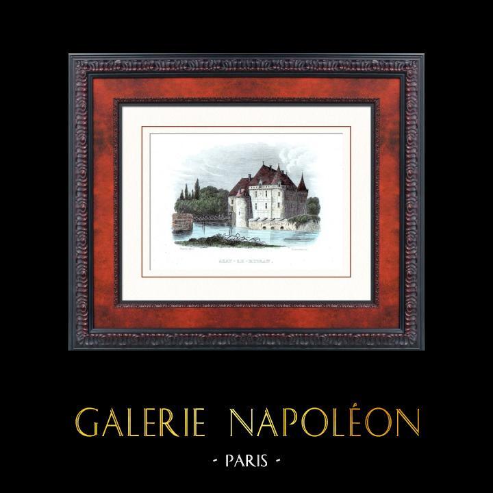 Gravures Anciennes & Dessins | Château d'Azay-le-Rideau (Indre-et-Loire - France) - Monument Historique | Taille-douce | 1840