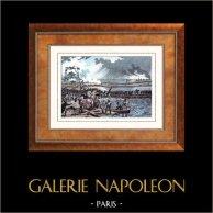 Guerres napoléoniennes - Campagne d'Allemagne et d'Autriche (1809) - Passage du Danube - Pont de la Lobau