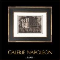 Révolution Française - Le Peuple envahit l'Abbaye de Saint-Germain-des-Prés (30 juin 1789) | Gravure sur cuivre originale dessinée par Prieur, gravée par Gysin. Papier filigrané. 1818