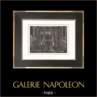 Franska Revolutionen - Affären av dolk - Tuilerierna - Franska nationalgardet (1791) | Original kopparstick efter teckningar av Prieur, graverade av Gleich. Papper med vattenstämpel. 1818