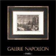 Rivoluzione Francese - Colpo di stato del 18 Fruttidoro Anno V - Giardini delle Tuileries (4 settembre 1797)  | Incisione su rame originale disegnata da Girardet, incisa da Klauber. Carta filigranata. 1817