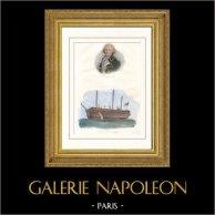 Porträt von Louis Antoine de Bougainville (1729-1811) - Französisch Seefahrer - Schiff - 74 Kanonen