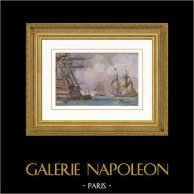 Napoleonic Wars - Boarding of Napoleon for Saint Helena on HMS Bellerophon of the Royal Navy (1815)