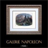 Peinture - Paysage des Alpes - Orage de la Handeck - Suisse - XIXème Siècle (Alexandre Calame)