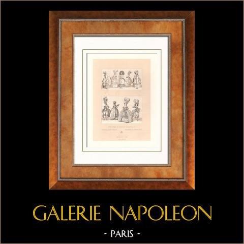 French Fashion - Francji - XVIII Wiek - XVIII Wiek - Kobieta - Panowanie Ludwik XVI Francji |