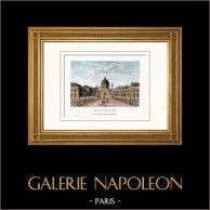 Petit Palais - Musée des beaux-arts - Paris (France) | Gravure sur cuivre originale gravée par Couché fils. Aquarellée à la main. 1818
