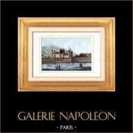 Vue de Paris - Le Louvre sous Charles V