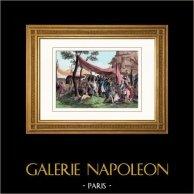 Guerras Napoleónicas - Armada Grande - Napoleón visitando las Ambulancias