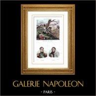 Guerres napoléoniennes - Soldats lors de la défense de Gênes - Portraits des généraux d'Arnaud et Franceschi-Delonne