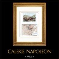 View of Bellinzona - Canton Ticino (Switzerland) - Map - Battle of Pozzolo (1800) - Napoleonic Wars - Napoleon Bonaparte