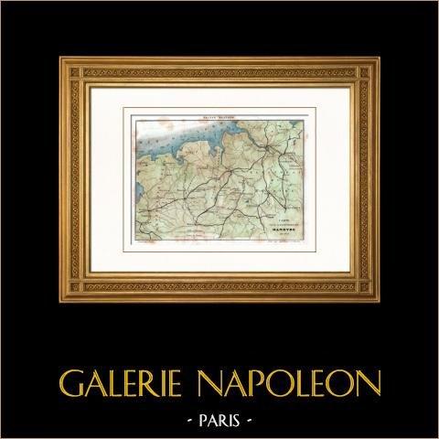 Kaart van de Expeditie naar Hannover (1800) - Franse Revolutieoorlogen - Napoleon Bonaparte - Duitsland |