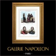 Costume tradizionale Napolitano - Napoli - Calabria - Abruzzi (Italia) - Ritratti - Lamarque (1770-1832) - Maximilien Sébastien Foy (1775-1825)