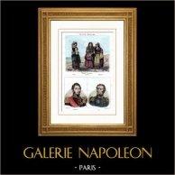 Neapolitaner traditionelle Kleidung - Neapel - Kalabrien - Abruzzen (Italien) - Porträts - Lamarque (1770-1832) - Maximilien Sébastien Foy (1775-1825)
