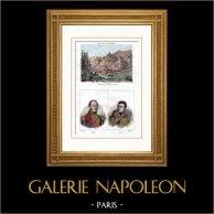 Guerras Napoleónicas - Batalla de Dürenstein (1805) - Retratos - Mariscal Mortier (1768-1835) - General Junot (1771-1813)