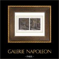 Palacio de Versalles - Versailles - Galerie des Croisades - Salon de la Paix | Original acero grabado dibujado por Jaime, grabado por Best et Hotelin. Agua-coloreado a mano. 1850