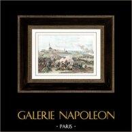 Historia av Napoleon Bonaparte - Belägring Akko - Egypten | Original stålstick efter teckningar av Martinet, graverade av Réville. Akvarell handkolorerad. 1835