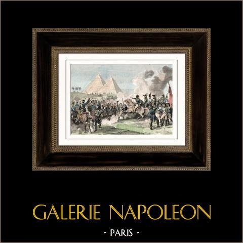 Kampania Napoleońska w Egipcie - Imperium Otomańskie - Bitwa pod Piramidy - Armee D'orient - Mamluks - 1798 |