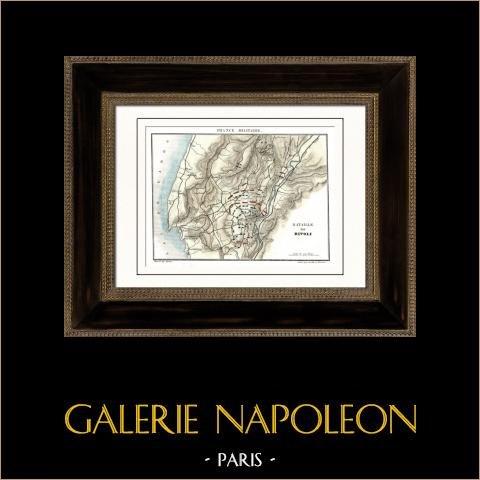 Antieke kaart - Napoleontische Oorlogen - De Slag bij Rivoli (1797) |