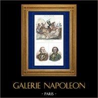 Guerres de la Révolution Française - Campagne d'Italie - Général Dumas - Brixen - Portraits - Général Sérurier (1742-1819) - Dumas (1762-1806)