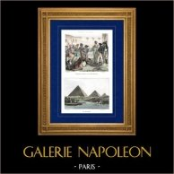Napoleonic Campaign in Egypt - Ottoman Empire - Napoleon Bonaparte Pardoning the Rebels at Cairo - Armee d'Orient - 1798 - Mamluks - Pyramids