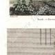 DÉTAILS 02 | Vue de Rosette - Rachid - Foueh (Egypte) - Bas-reliefs à Thèbes