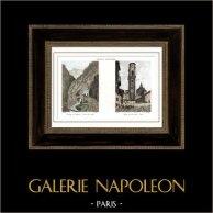 Alpen - Simplon Pass - Galerie de Gondo - Sindone Kapel Turijn - Italië