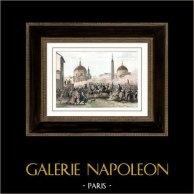 Französischen Revolution - Koalitionskriege - Italien Expedition - Einzug der Franzosen in Rom  (1798)