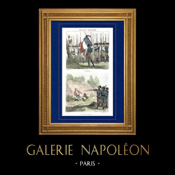 Gravures Anciennes & Dessins   Guerres Napoléoniennes - Napoléon Bonaparte - Revue militaire - Exécution (1796)   Taille-douce   1835