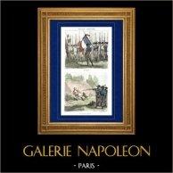 Guerres Napoléoniennes - Napoléon Bonaparte - Revue militaire - Exécution (1796) | Gravure sur acier originale dessinée par Martinet, gravée par Lacauchie. Aquarellée à la main. 1835