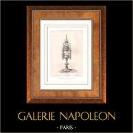 Meubles Anciens - Art Religieux - Art Français - Reliquaire en Argent doré