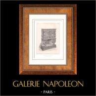 Muebles Antiguos - Arte Francés - Crédence - Madera Tallada