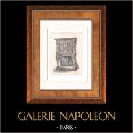 Muebles Antiguos - Arte Francés - Crédence - Madera Tallada - Estilo Enrique II