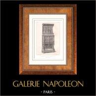 Muebles Antiguos - Arte Francés - Credence - Deux-corps - Madera Tallada
