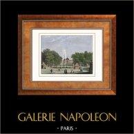 Vista de París - Jardines de las Tullerias - Jardin des Tuileries (Francia)