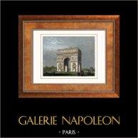 View of Paris - Arc de Triomphe de l'Etoile - Champs Elysées (France)