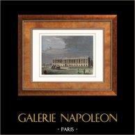 Vue de Paris - Palais du Louvre - Colonnades (France)