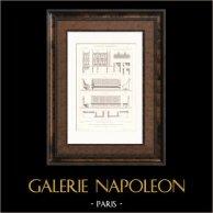 Universal Exposition 1878 - Paris - Bench - Pavillon du Ministère des Travaux Publics (De Dartein)
