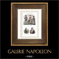 Costumes Régionaux Français - Traditions et Folklore - Gard - Portraits - Rabaut de Saint-Étienne (1743-1793) - Guizot (1787-1874)