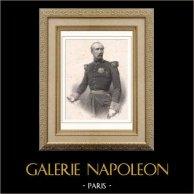 Portrait de Patrice de Mac Mahon - Maréchal de France - Président République française (1808-1893) | Lithographie originale d'après Horace Vernet gravée par Bornemann litho. 1865