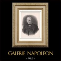 Retrato de Adolphe Thiers (1797-1877) - Presidente de la República Francesa | Original litografia dibujado por Pierre Petit photographe. 1865