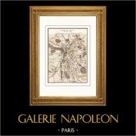 Vecchia Carta - Guerre napoleoniche - Battaglia di Leipzig (1813) - Napoleone I - 6a coalizione