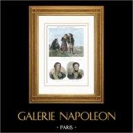 Costumes Régionaux Français - Traditions et Folklore - Bretagne - Portraits - Fouché (1759-1820) - Cambronne (1770-1842)